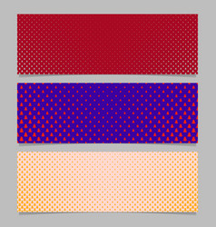Halftone stylized pine tree pattern banner vector