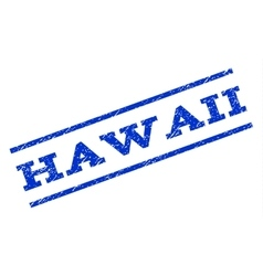 Hawaii Watermark Stamp vector image vector image