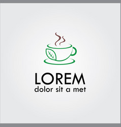 herbal tea logo vector image vector image