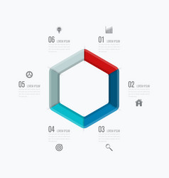 Infographics template six options vector