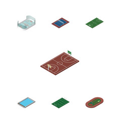 Isometric lifestyle set of basin american vector