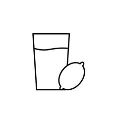 lemonade icon vector image