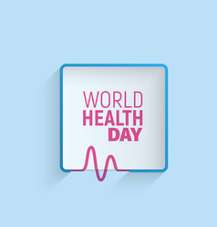 Logo of world health day 7 april minimalistic vector