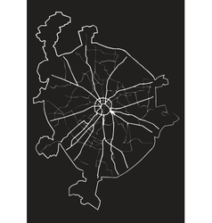 Moscow map vector