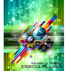 music international disco vector image vector image