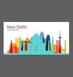 new delhi colorful architecture vector image