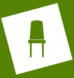 Office chair sign white icon obtained as vector