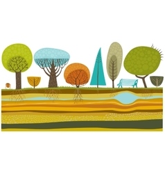 Park trees set vector
