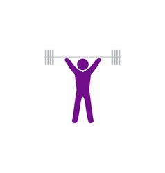 Powerlifter icon vector