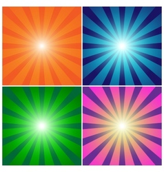Rays background set vector