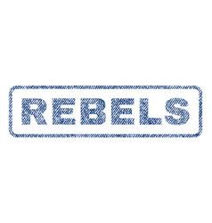 Rebels textile stamp vector
