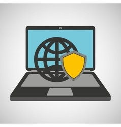 security globe system technology vector image
