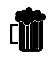 Silhouette glass beer mug foam cold drink vector