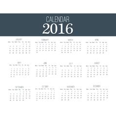 Simple calendar 2016 abstract calendar for 2016 vector