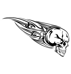 skull with tribal vector image