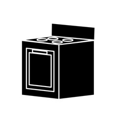 stove kitchen appliance vector image