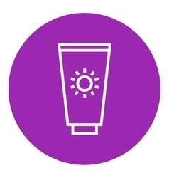Sunscreen line icon vector