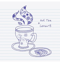 Teacup vector image vector image