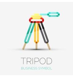 Tripod icon company logo business symbol concept vector image