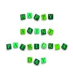 Words happy saint patricks day vector