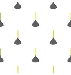 Toilet plunger cartoon icon for web vector image