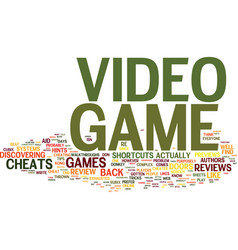 Learn the inside scoop to video game cheats vector
