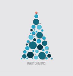 Absract christmas tree card vector