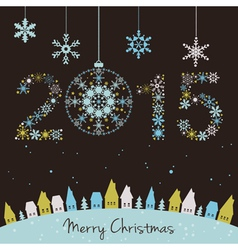 2015 New year Happy holidays background vector image