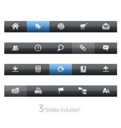 web site and internet bars vector image