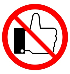Prohibition thumb up sign vector