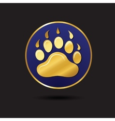 Animal footprint for ecology design logo template vector image