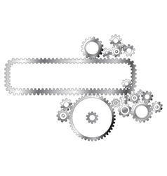 Metal cogwheels vector