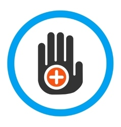Hand medical marker rounded icon vector