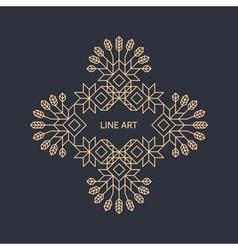 Decorative line art frame vintage style vector