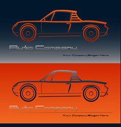 Abstract retro sport car design vector