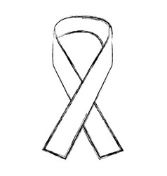awareness peace ribbon support help concept vector image vector image