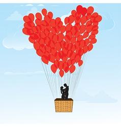 baloon hearts vector image vector image