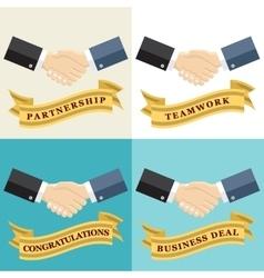 Businessman shaking hands vector image vector image
