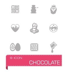 Chocolate icon set vector image