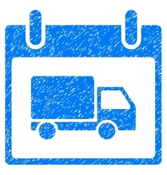 Delivery car calendar day grainy texture icon vector