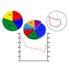 Different diagrams with figures vector