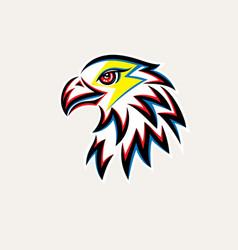 Eagle thunder logo vector