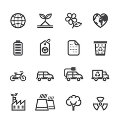 Ecology and environment icons vector