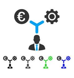 Euro financial development flat icon vector