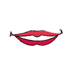 Female lips with lipstick a smile vector