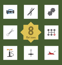 flat icon auto set of lifting belt carrying and vector image