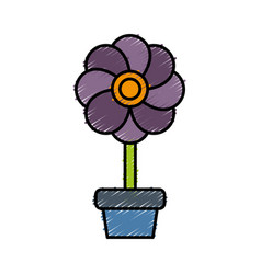 Flower plant icon vector