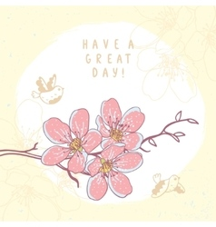 flowers branch beautiful vector image