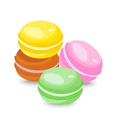 French macarons isolated on white background vector image vector image