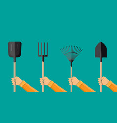 Hnds with gardening tools vector